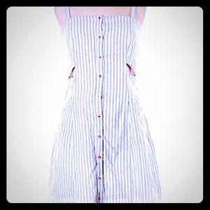 Love Riche White w/Blue Striped Dress - S